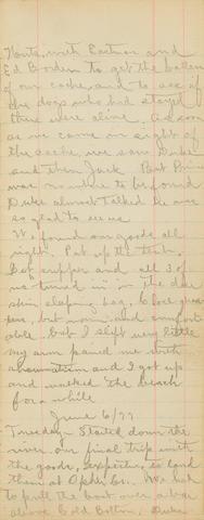 ALASKA GOLD RUSH. Autograph Manuscript, being the Alaska Gold Rush diary of Frank C. Nichols of Fall River, MA, during the years 1898-1899 on the Seward Peninsula,