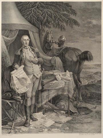 WASHINGTON, GEORGE. 1732-1799. LE PAON, JEAN-BAPTISTE, artist. [Le Washington.] [Paris: Le Mire, c.1780.]