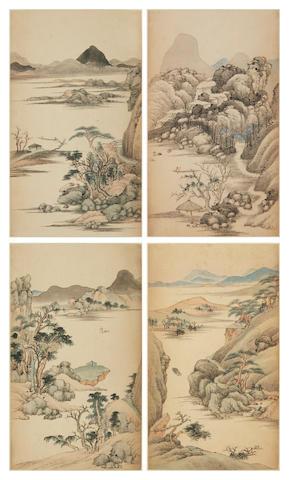 After Qian Weicheng (1720-1772) Landscape album