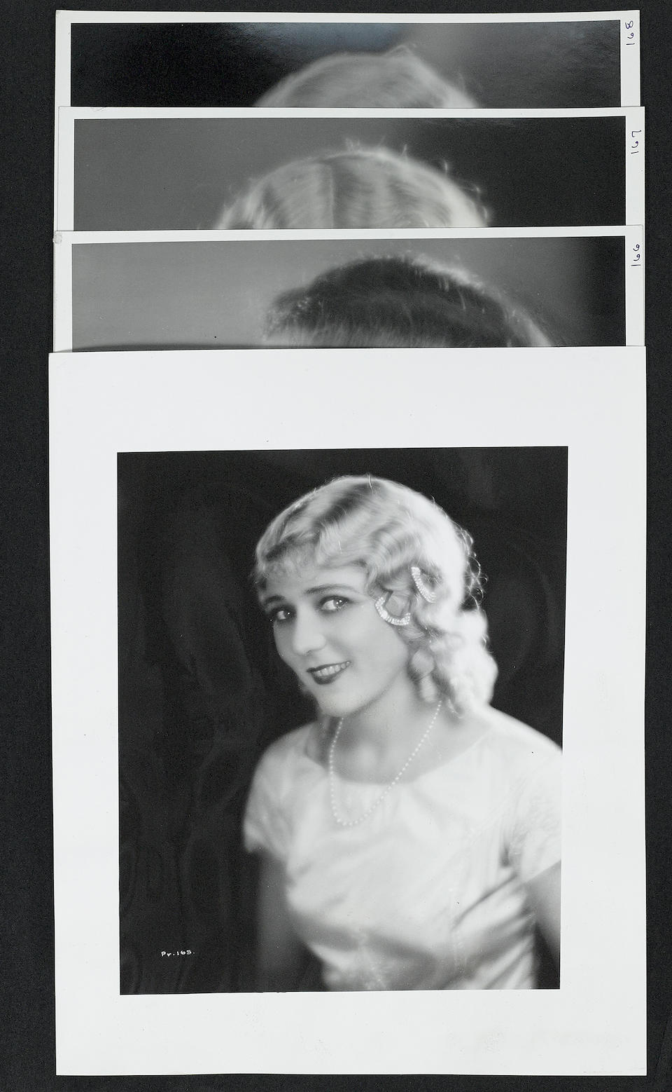 A Mary Pickford scrapbook of portrait photographs