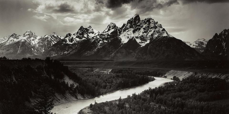 Ansel Adams (1902-1984); The Tetons and the Snake River, Grand Teton National Park, Wyoming;