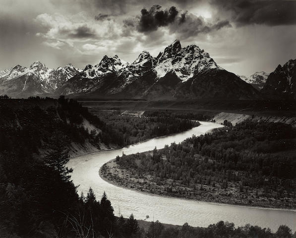 Ansel Adams (1902-1984); The Tetons and the Snake River, Grand Teton National Park, Wyoming;