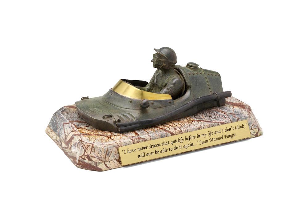 Maximiliano Garay, Bronze, Commemoration of Juan Manuel Fanjio 1957 Victory at German Grand Prix