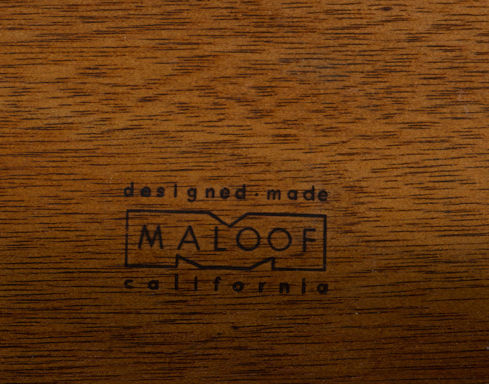 Sam Maloof (1916-2009) Buffet1969oak, branded 'designed made MALOOF california', impressed NAKAMOTO 36 2.69height 34 1/2in (88cm); width 71 1/2in (182cm); depth 17 1/2in (44.5cm)