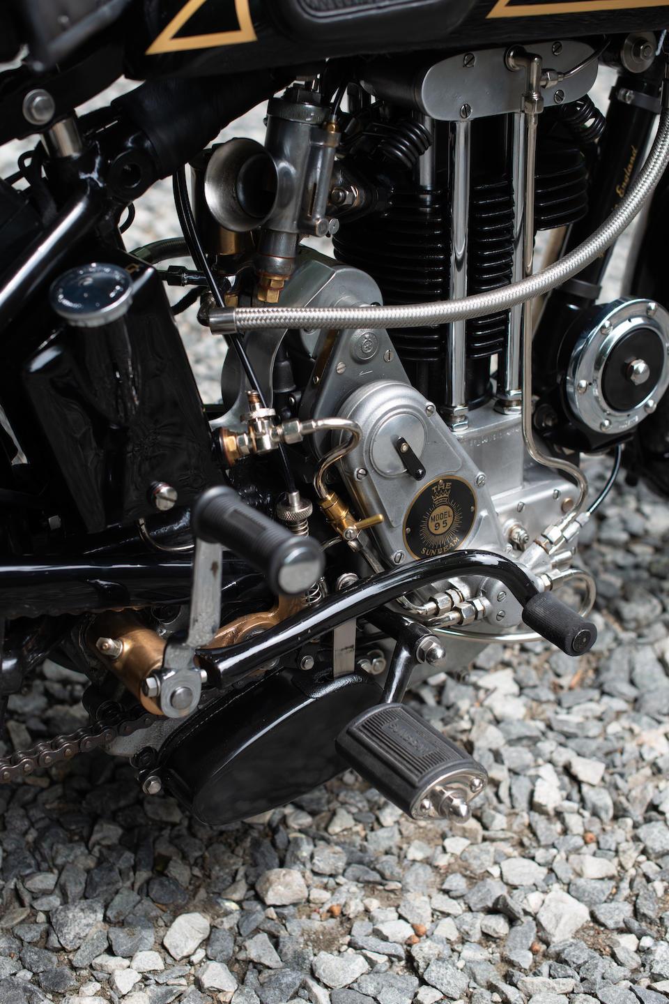 Ultra-rare OHV single, showing 211 miles since complete restoration,1934 Sunbeam 500cc 95L Frame no. 521.0-2641 Engine no. 95L.495.0.464