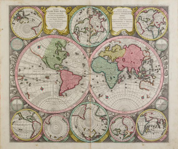 Seutter, Georg Matthaus. 1678-1757. Diversi Globe terr-Acquel statione variante et visu intercedente. Augsburg: [c.1730 and later].