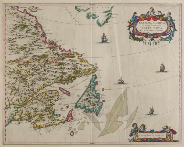 Blaeu, Joan. 1596-1673. Extrema Americae versus Boream, ubi Terra Nova Nova Francia. Amsterdam: [1665].