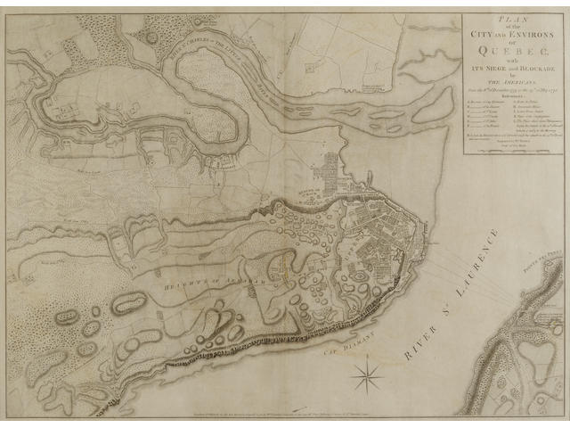 Faden, William. 1750-1836. Plan of the City and Environs of Quebec, with its siege and blockade by the Americans from the 8th of December 1775 to the 13th of May 1776. London: 12 September, 1776.