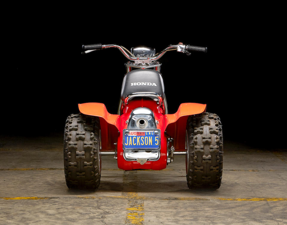 Formerly owned by the Jackson 5,1973 Honda  ATC70 Frame no. ATC70-1002534