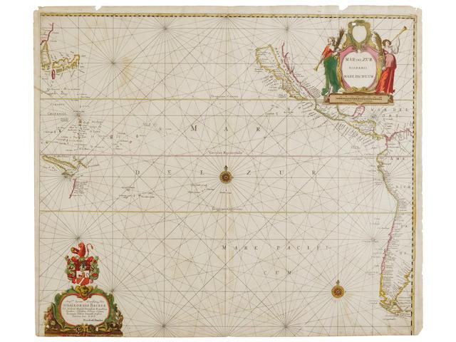 Doncker, Hendrick 1626-1699. Mar del Zur Doncker, Hendrick. 1626-1699. Mar del Zur Hispanis Mare Pacificum. Amsterdam: [c.1659]
