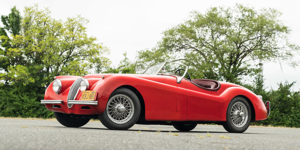 <b>1953 Jaguar XK120 Roadster</b><br />Chassis no. S672955<br />Engine no. W6153-S