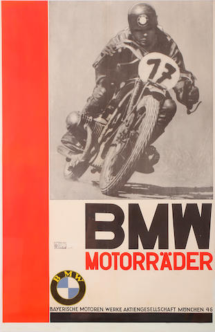 "A BMW ""Motorrader"" poster."