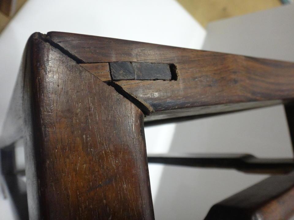 A HUANGHUALI RECTANGULAR FOOT REST 18th century