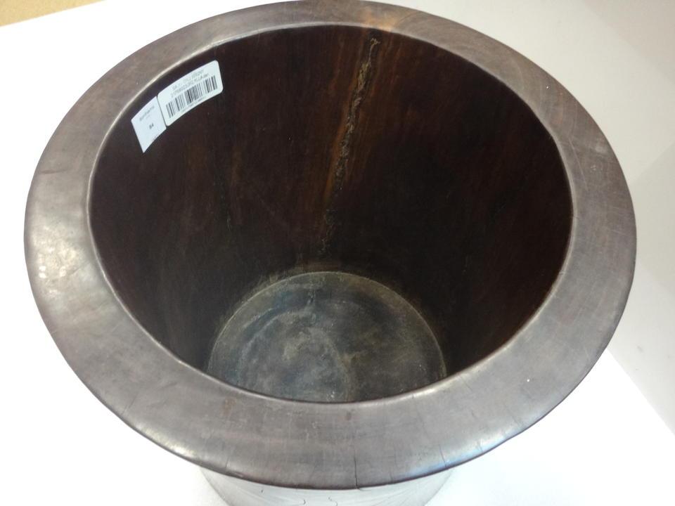 A fine hardwood scroll pot 19th century