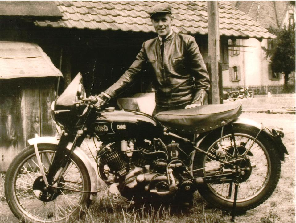 The ex-Hans Stärkle, 2nd example built, 5 owners and history from new, present owner for 50 years, 1949 Vincent 998cc Black Lightning Series-B Frame no. RC3548 Engine no. F10AB/1C/x1648