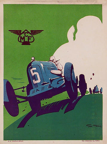 MCF (Motor Club de France) original poster by Geo Ham,
