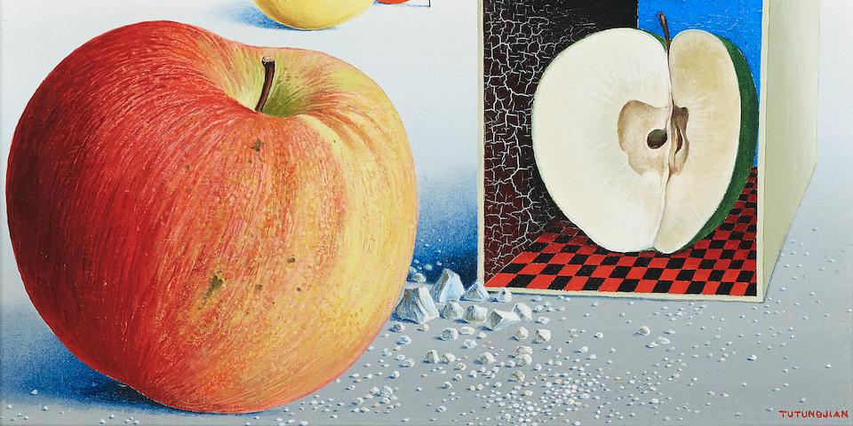 Léon Arthur Tutundjian (French, 1906-1968) Untitled (Pommes) 7 1/2 x 9 1/2in (19.1 x 24.2cm)