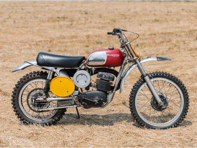 """Owned and ridden by Steve McQueen in the film """"On Any Sunday"""",1970 Husqvarna 400 Cross Frame no. MH1341 Engine no. 401124"""