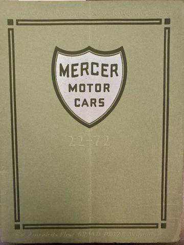 1922 Mercer 22-72 Deluxe Catalog with Racing History