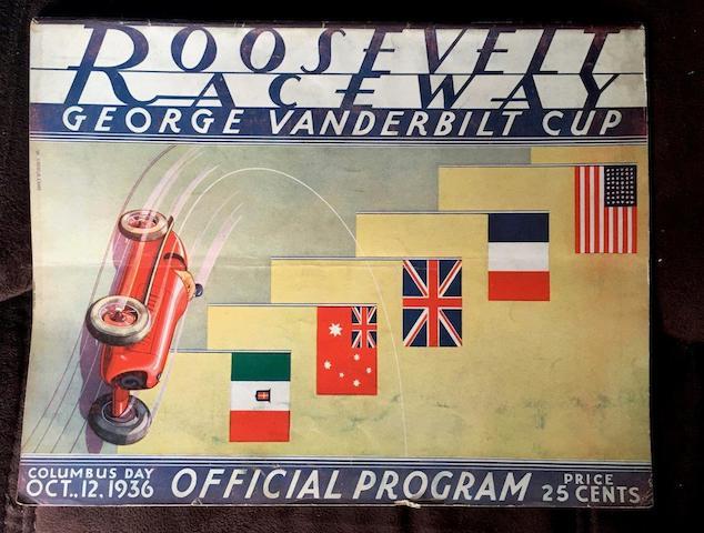1936 Vanderbilt Cup Program