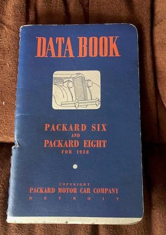 1938 Packard Data Book on Six & Eight Models