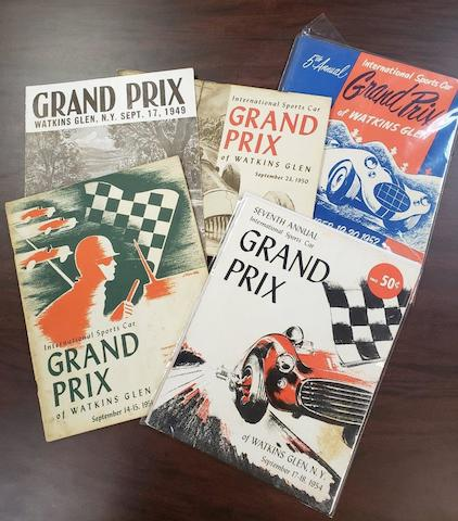 Original Watkins Glen International Sports Car Grand Prix Program