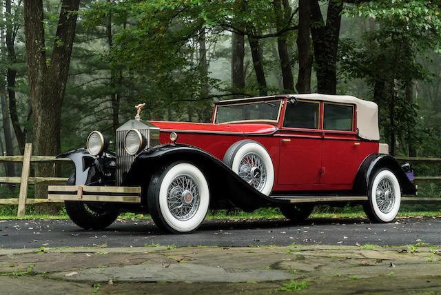 <b>1931 Rolls-Royce 40/50hp Phantom II Newmarket Convertible Sedan</b><br />Chassis no. 234AJS<br />Engine no. B65M