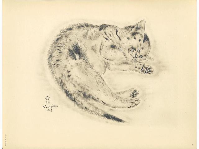 Léonard Tsuguharu Foujita (1886-1968); A Book of Cats: being Twenty Drawings by Foujita;