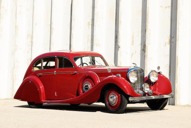 <b>1936 Bentley 4&#188; LITER AIRFLOW SALOON</b><br />Chassis no. B118HK<br />Engine no. K2BY