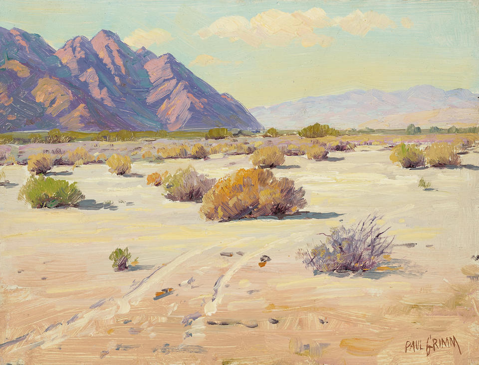 Paul Grimm (1891-1974) Desert landscapes, including Near La Quinta (a group of four) each 9 x 12in each unframed