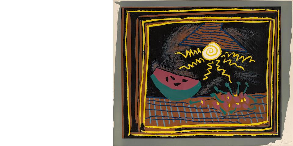 Pablo Picasso (1881-1973); Nature Morte à la Pastèque;