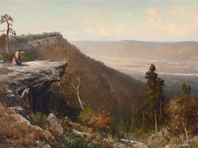 Thomas Hill (1829-1908) Hudson River Valley from the Catskill Mountain House 36 1/4 x 60in (Painted in 1872.)