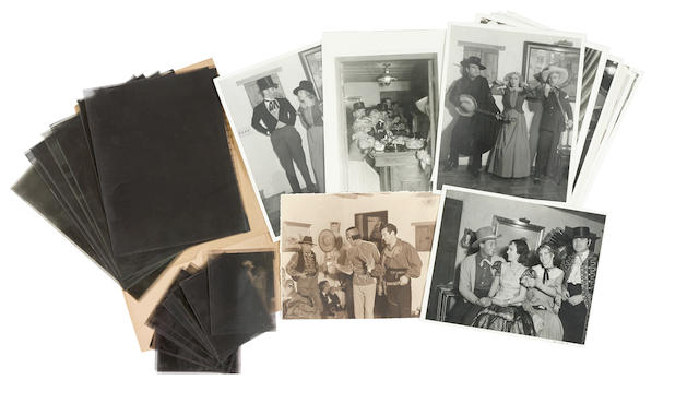 A Mary Pickford group of photos and negatives from a Western party at Pickfair