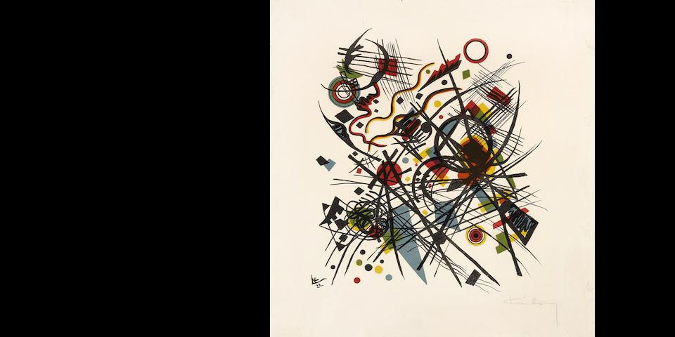 Wassily Kandinsky (1866-1944); Lithographie für die Vierte Bauhausmappe;
