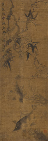 Various Artists (19th/20th century)  Two paintings of Fish