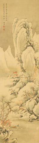 Zhang Zan (Qing dynasty) Snow Landscape
