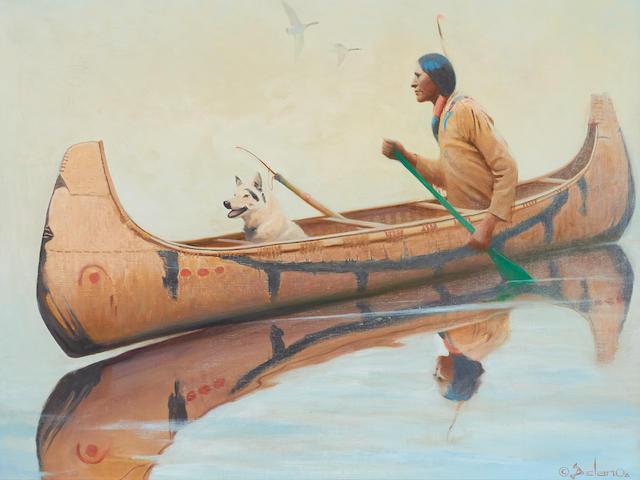 Gerard Curtis Delano (1890-1972) Menominee Hunter 30 x 36in
