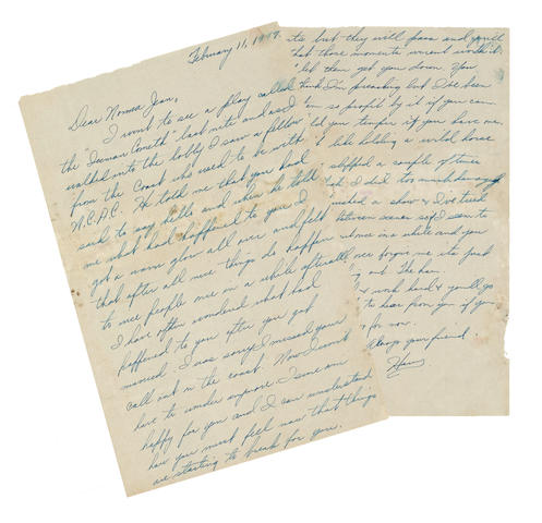 A Marilyn Monroe group of letters from Howard Keel