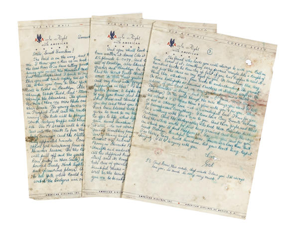 A Marilyn Monroe group of letters from Sid Ross