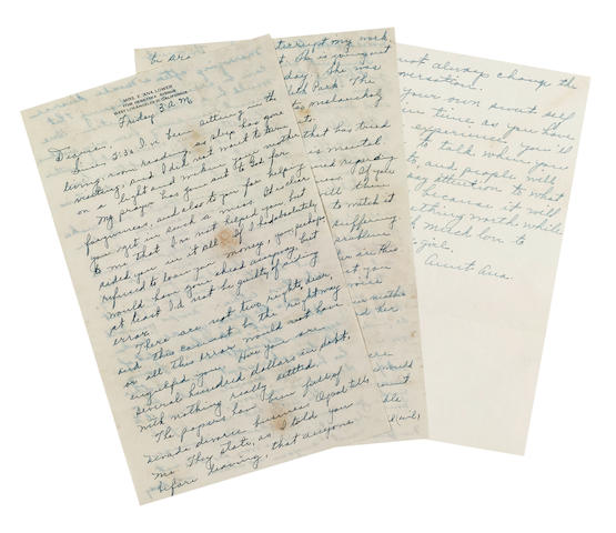 A Marilyn Monroe pair of letters from Ana Lower