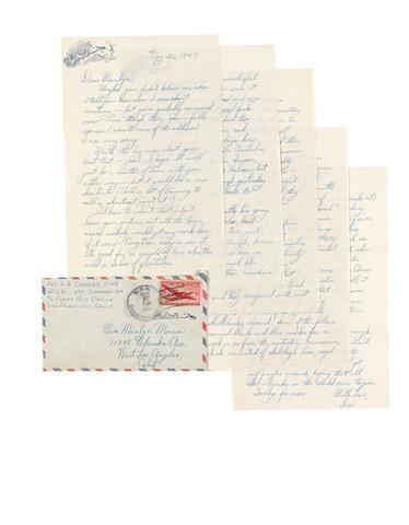 A Marilyn Monroe letter from Len Cormier