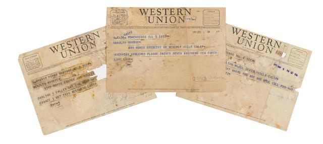 A Marilyn Monroe group of telegrams from Elia Kazan