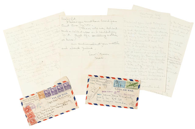 A Marilyn Monroe pair of letters from her guardian, Grace Goddard
