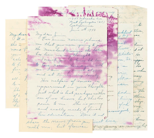 A group of Ana Lower letters to James Dougherty regarding Marilyn Monroe