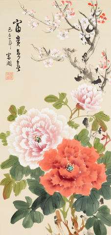 Han Zongxiang (1912-?) Peonies and Plum Blossoms, 1989