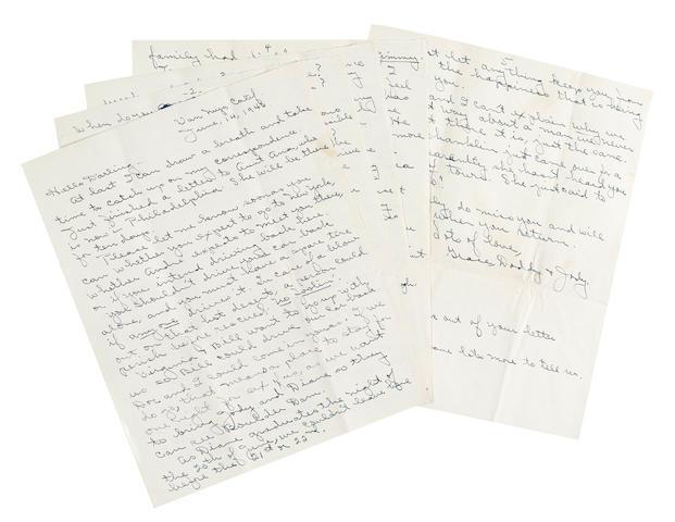 A Marilyn Monroe letter from her guardian, Grace Goddard
