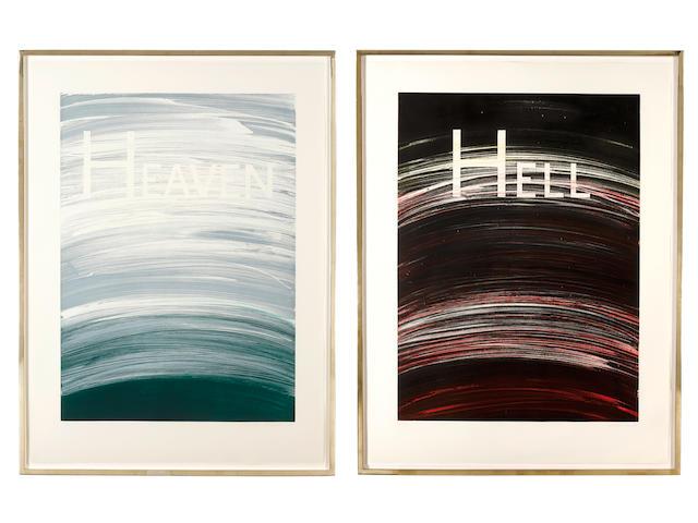 Ed Ruscha (born 1937); Heaven; and Hell; (2)