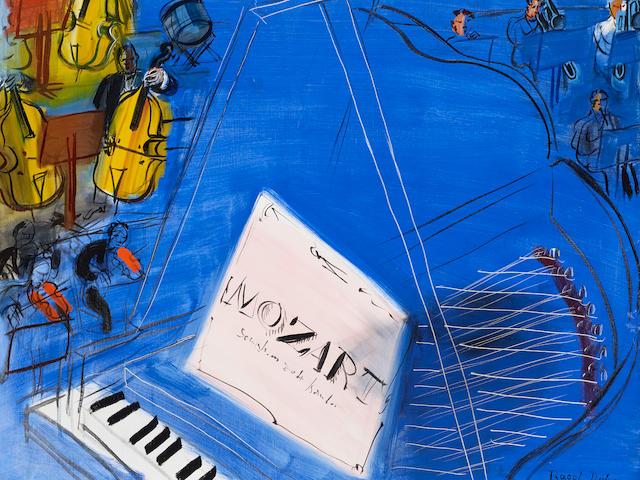 RAOUL DUFY (1877-1953) Mozart 25 5/8 x 31 7/8 in (65 x 81 cm)