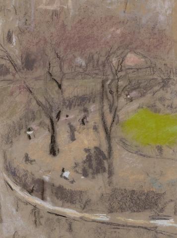 EDOUARD VUILLARD (1868-1940) Vue de la place 24 1/2 x 18 1/2 in (62.1 x 47.1 cm) (Executed circa 1910)