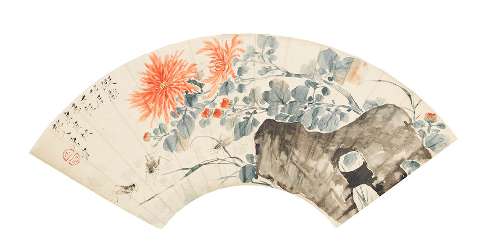 Tang Yun (1910-1993) & Lai Chusheng (1903-1975)  Autumn Colors & Calligraphy, 1950
